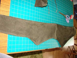 Sewn and turned right sides out