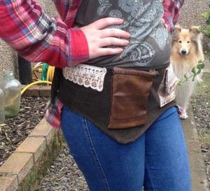 Festival/Utility belt on Eve photo bombed by dog