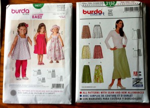Burda and Simplicity sewing pattern