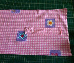 Strap sewn on