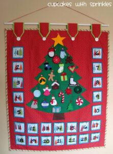 Hand sewn Advent Calendar