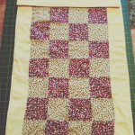 How to patchwork quilt finished