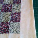 Patchwork quilt ironed