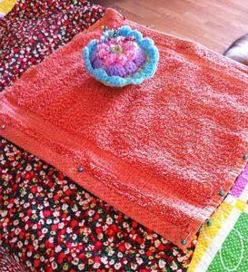 Fabric pinned