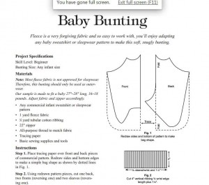 baby bunting sewing pattern